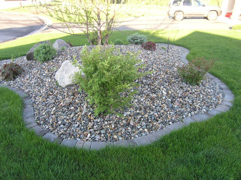 Edge Garden Landscape Rocks : Alfa img showing gt rock lawn edging