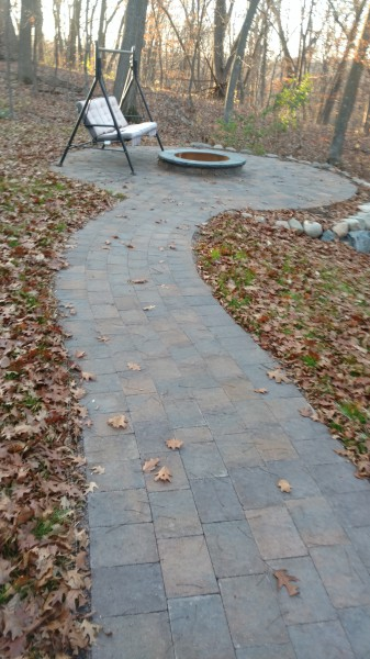 Rock Fire Pit Backyard