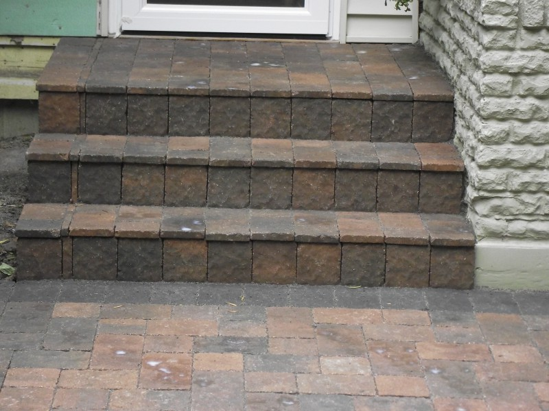 How To Build Outdoor Steps With Pavers Modern Patio